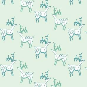 deer on green-01