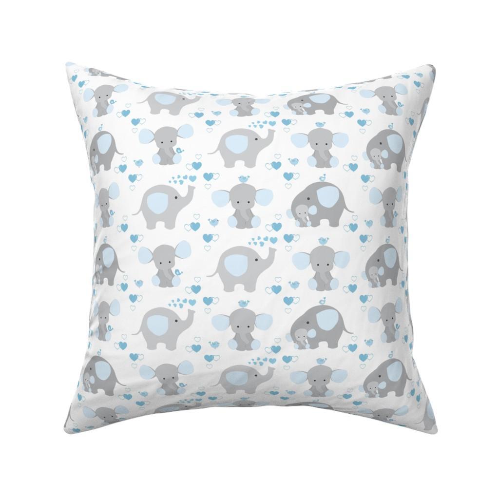 Catalan Throw Pillow featuring Elephant Nursery Blue Boy by decamp_studios