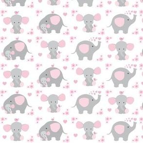 Elephant Pink Floral Girl Nursery
