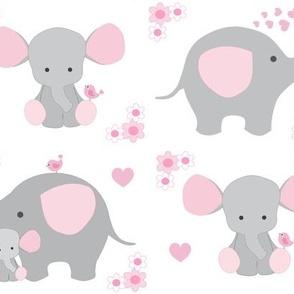 Elephant Nursery Pink Girl