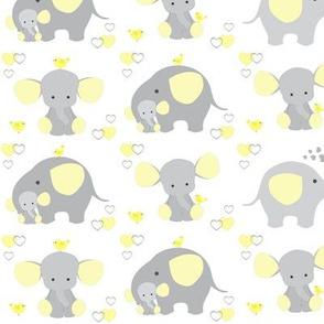 Elephant Nursery Yellow Neutral