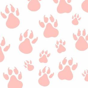 Pink Paw Prints - Medium