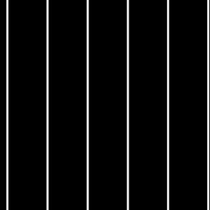 White Stripes on Black