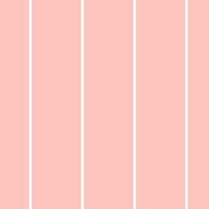 White on Pink Stripes