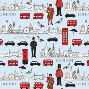 London Skyline and Icons