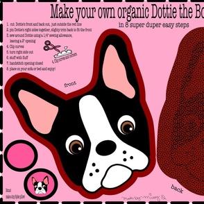 Dottie the Boston Terrier Pillow