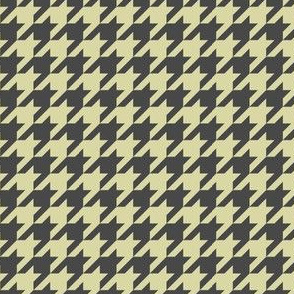 Houndstooth graphite and pale yellow