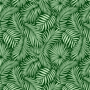 palm leaves __ green   mint __ tropical design for beach and swim