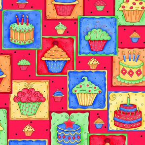 Cupcake Cake Patch Red