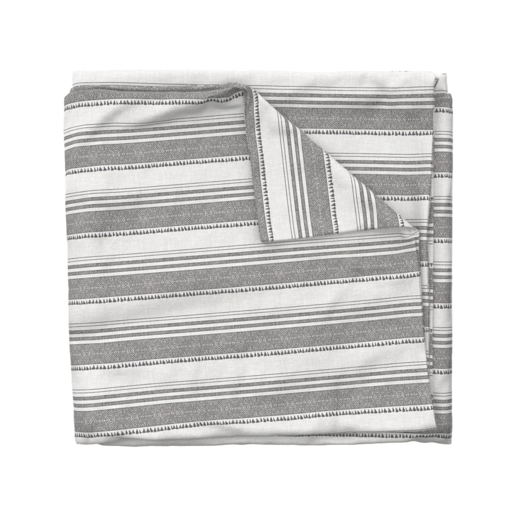 Wyandotte Duvet Cover featuring FRENCH LINEN CHARCOAL TASSEL by holli_zollinger