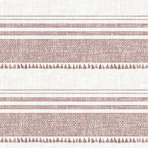 FRENCH LINEN SANDSTONE TASSEL FABRIC