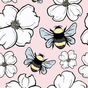 Dogwood Blooms + Bumblebees