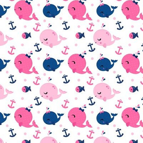 Baby Whales Pink