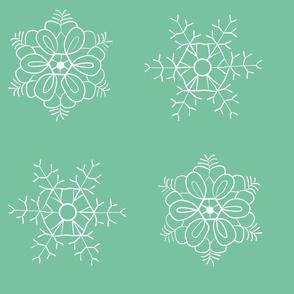 snowflakes mint