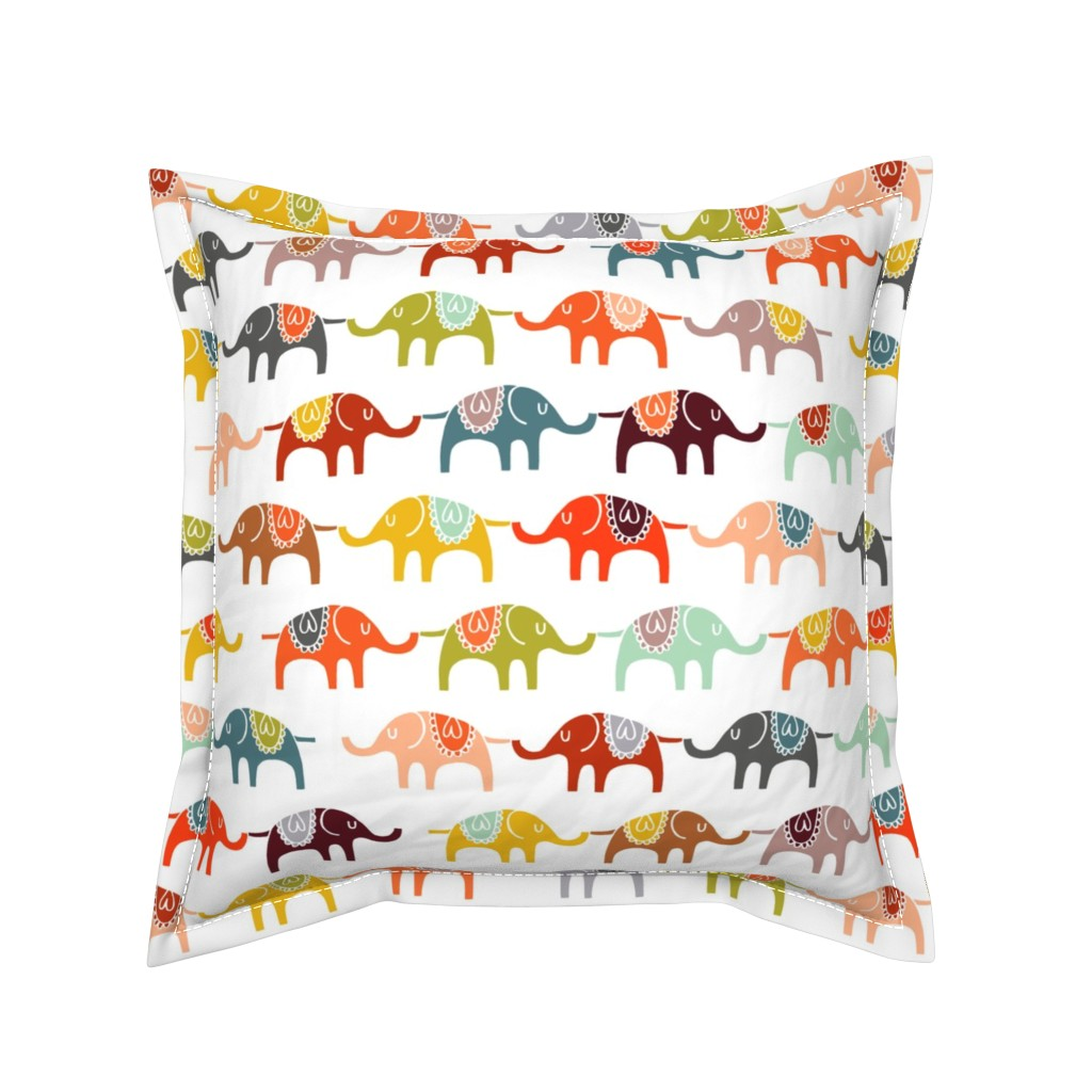 Serama Throw Pillow featuring elephant march by endemic