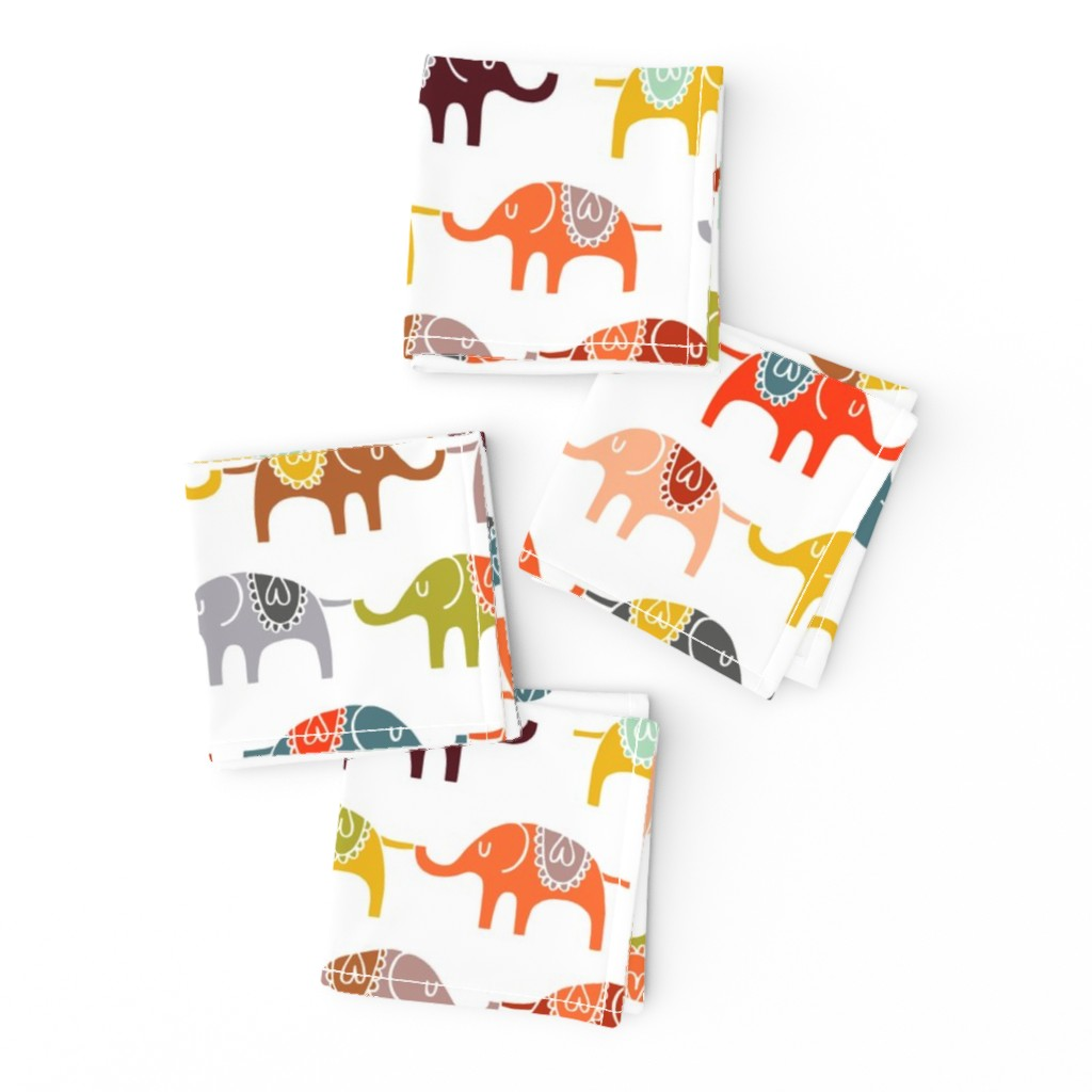 Frizzle Cocktail Napkins featuring elephant march by endemic