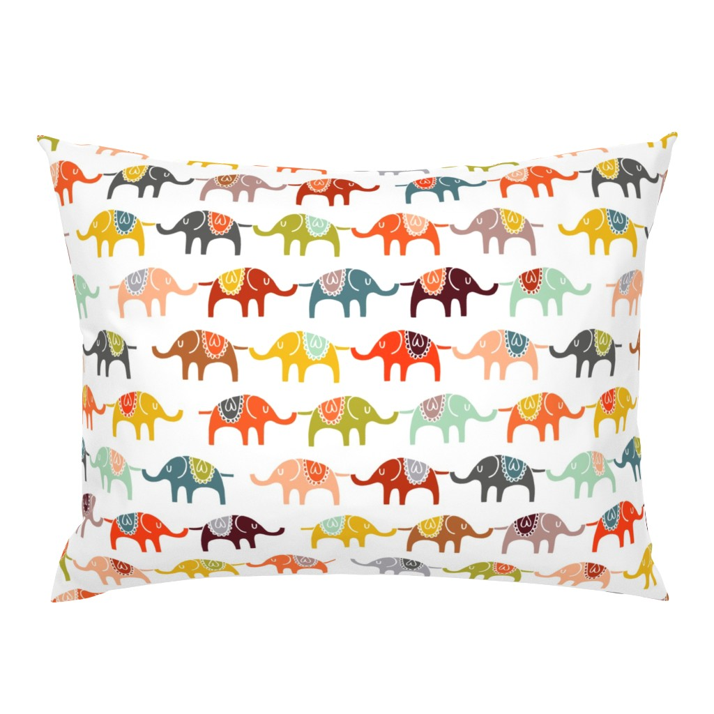 Campine Pillow Sham featuring elephant march by endemic