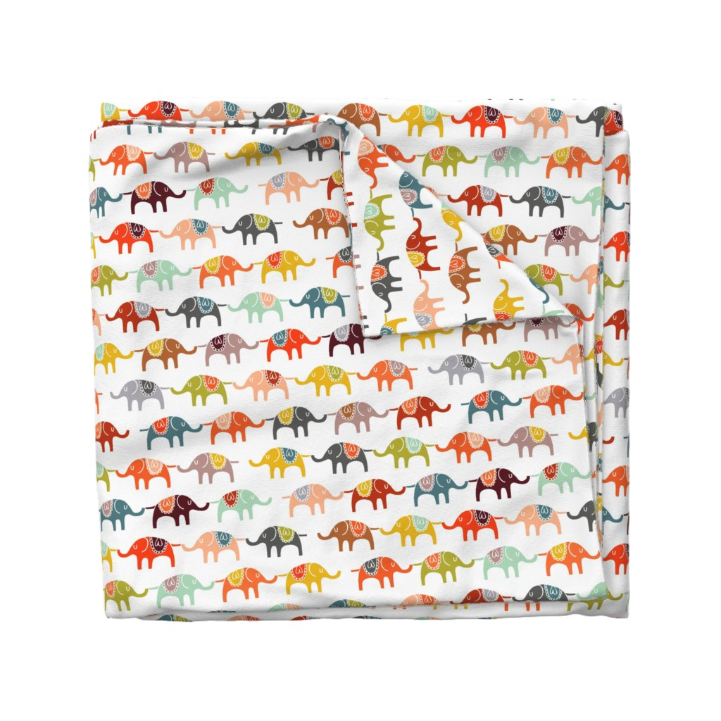 Wyandotte Duvet Cover featuring elephant march by endemic