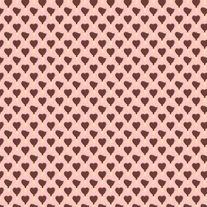 (micro scale) heart shaped ice-cream - pink with pink dots
