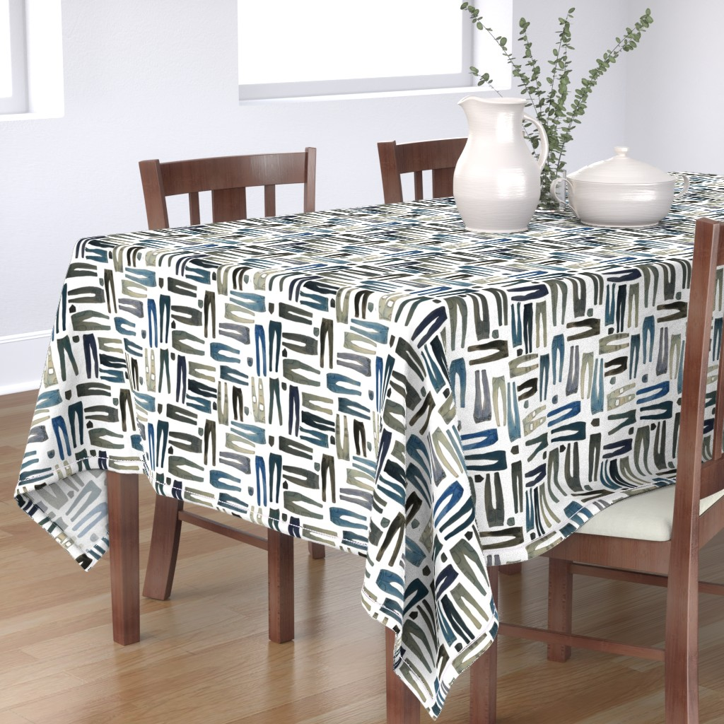 Bantam Rectangular Tablecloth featuring Skinny Jeans in Various Shades of Denim by paper_and_frill