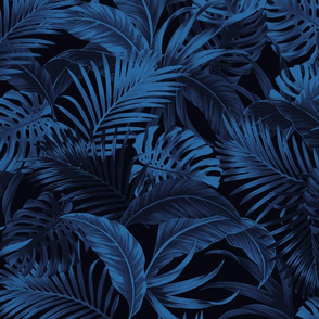 Jungle Palms - Blue