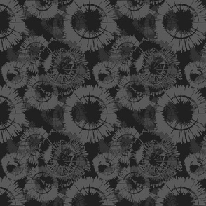 Flowercircle dark grey monochrome