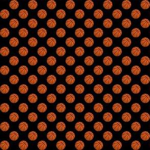Half Inch Basketball Balls on Black
