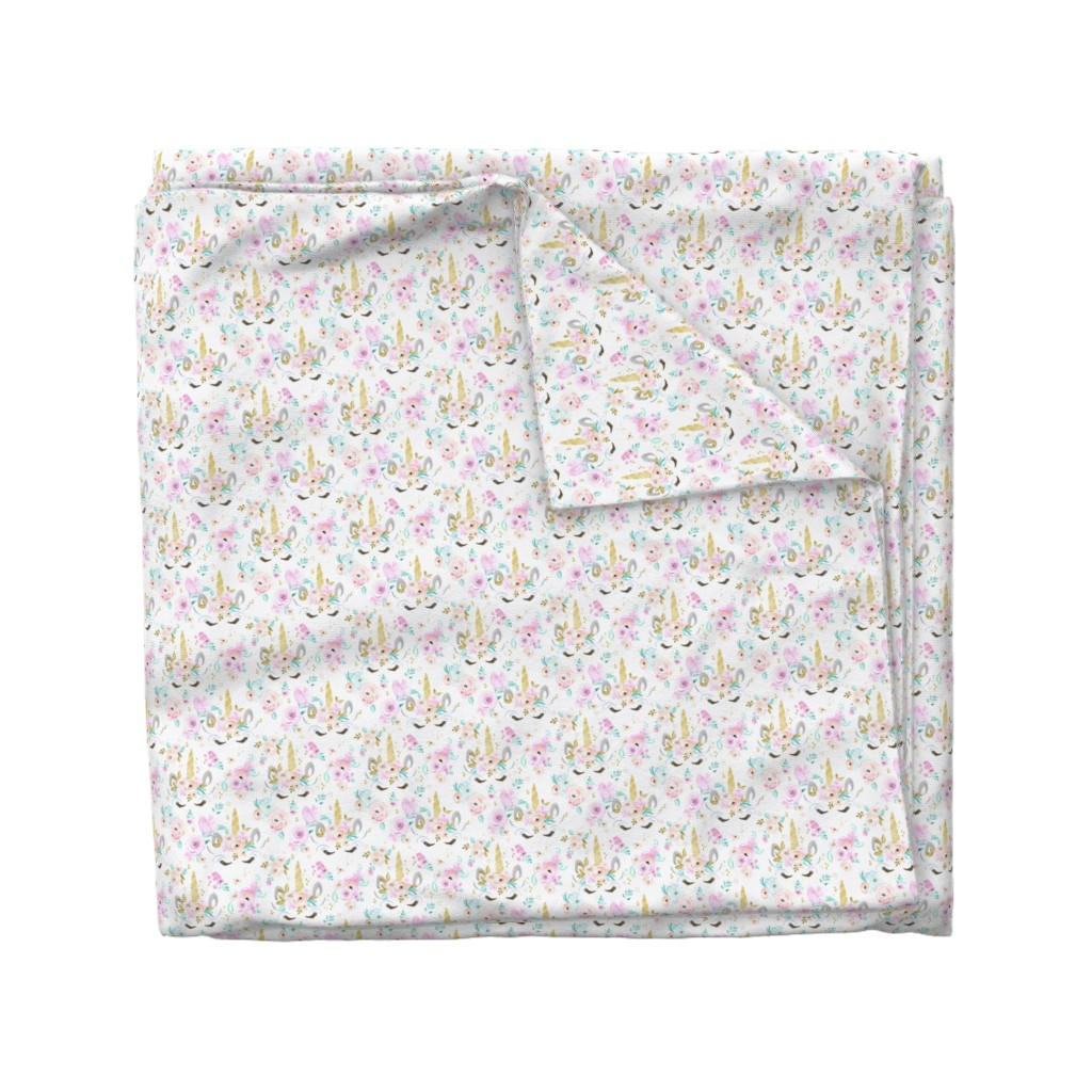 Wyandotte Duvet Cover featuring unicorn floral S by crystal_walen