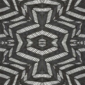 AFRICAN/AZTEC BLACK and WHITE LEAVES