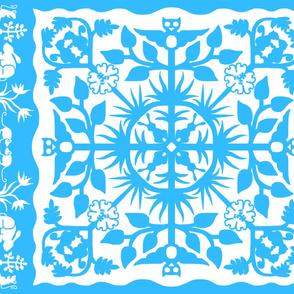 Hawaiian style cheater quilt 33bbff border B