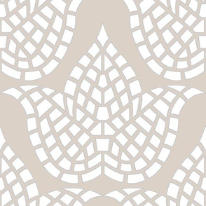 Mosaic Botanical Hygge Beige Grey White