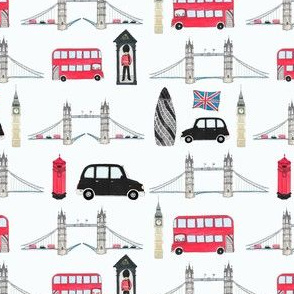 London icons blue background