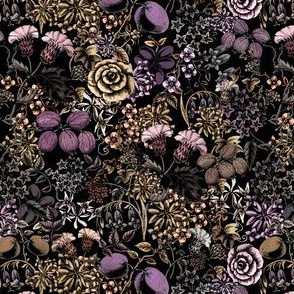Dark Witches Vintage Flowers and Fruit