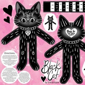 Black Cat BFF - a cut and sew doll
