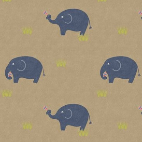 ELEPHANT AND LOLLIPOPS_TAUPE