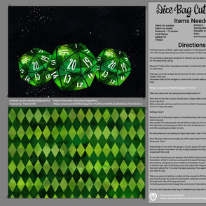 Green Dice Bag Cut and Sew
