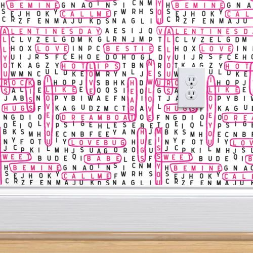 valentines word search love crossword