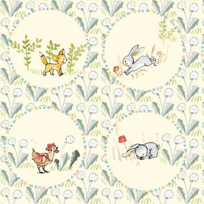 Domestic and woodland animals