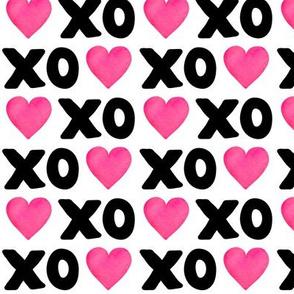 XOXO Heart - B&W