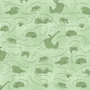 Six Dogs and a Cat nap - green tea medium