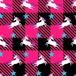 Pink Unicorn Plaid