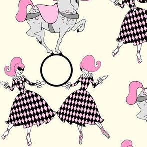 Retro circus-Vanilla and Pink