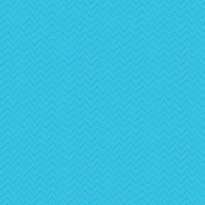 Baby Whales Bright Blue Chevron