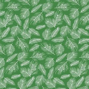 Pine-Pattern-Outlnes-White-Bright Green