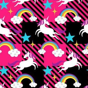 Unicorn & Rainbow Plaid