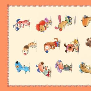 Mousehaus Puppies Tea Towel