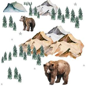 """18"""" Mama Bear & Cub in the Woods"""