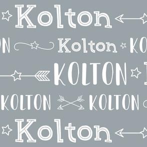 Boys Personalized Name - Stars and Arrows - Kolton