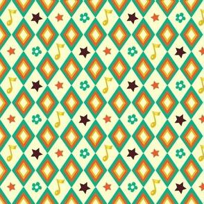 Circus pattern   white