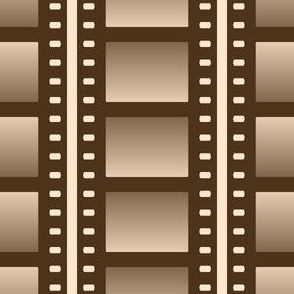 07053932 : film cell stripe : sepia